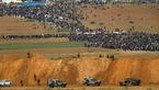 عکس / برگزاری «راهپیمایی بازگشت» در نوار غزه/ ۴ شهید و بیش از ۳۵۰ زخمی