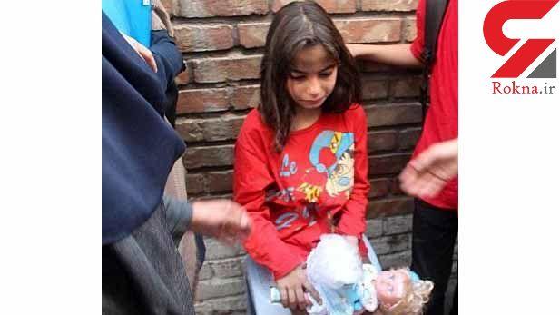 عکس دختر تهرانی که در میان آتش گرفتار شد / صبح امروز رخ داد