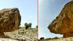 سنگ معلق روی قله کوه !+عکس