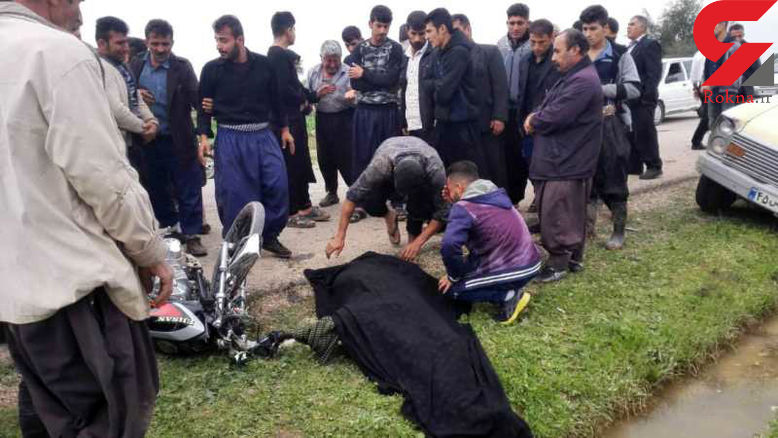 تصادف در جاده بن جعفر دزفول یک کشته برجا گذاشت + عکس