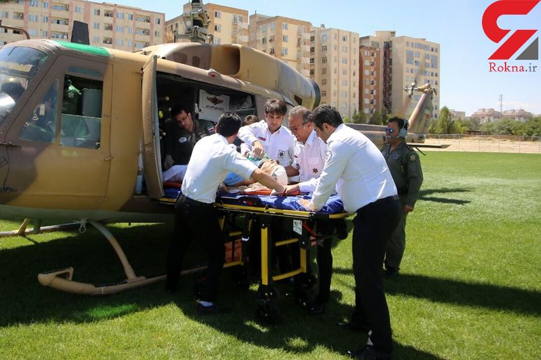 جوان آشتیانی دچار برق گرفتگی شد / اورژانس هوایی به دادش رسید