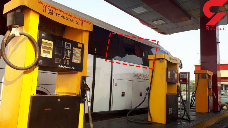حمله وحشیانه به اتوبوس مسافربری در مسیر بندرعباس و خرمشهر + عکس