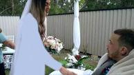 ازدواج جنجالی زن عاشق با نامزد سرطانی اش+عکس