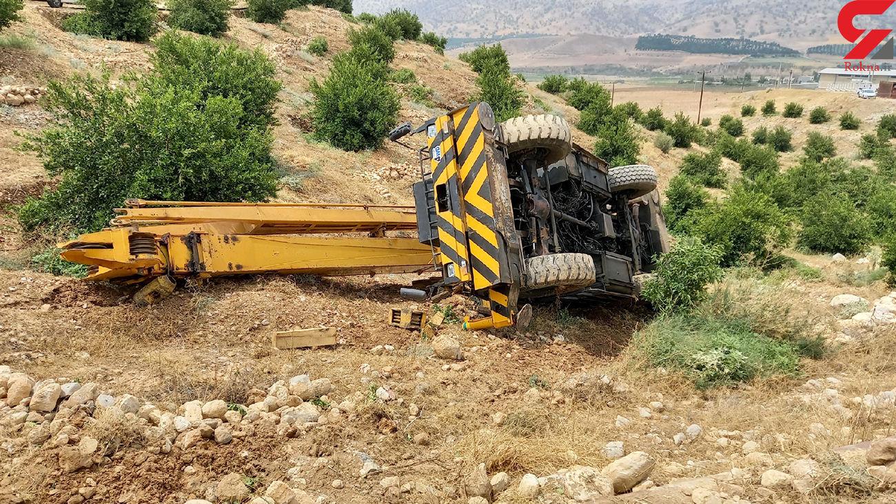 سقوط مرگبار راننده جرثقیل در باشت