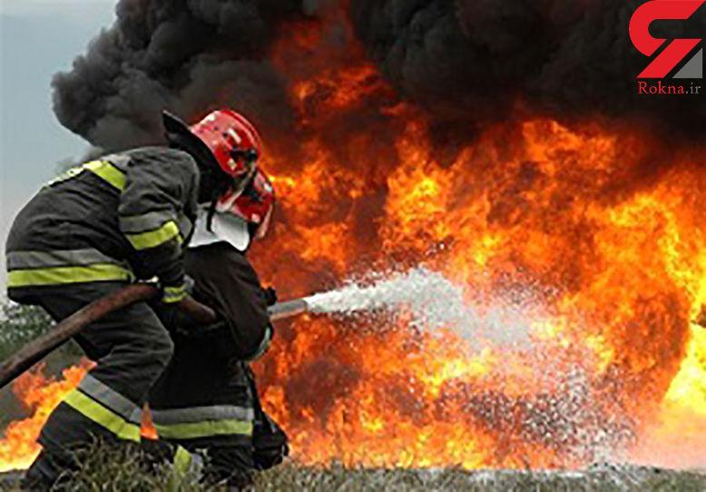 آتش گرفتن هولناک سمند در پونک