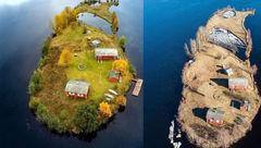 جزیره زیبایی که فقط ۹ نفر جمعیت دارد+ عکس