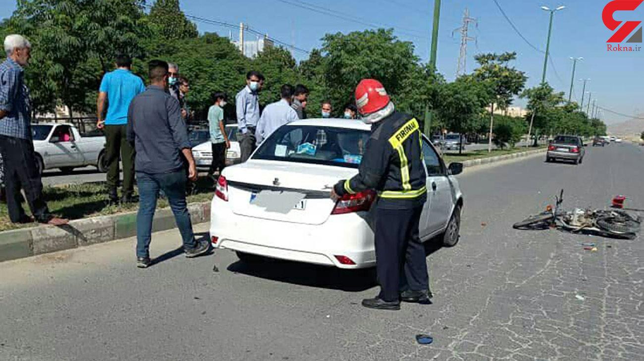 تصادف خونین در بلوار ایران زمین + عکس ها