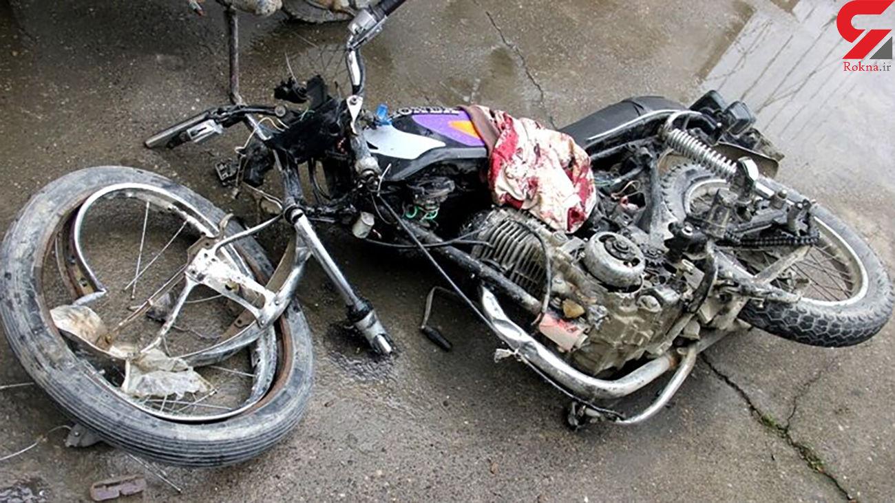 تصادف مرگبار دوچرخه و موتور در بیجار / یک نفر کشته شد
