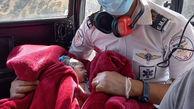 فیلم تولد یک فرشته داخل هلکوپتر / در ارتفاعات یاسوج رخ داد