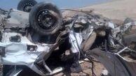 عجیب ترین عکس از یک تصادف مرگبار / در تنگه آبادان رخ داد