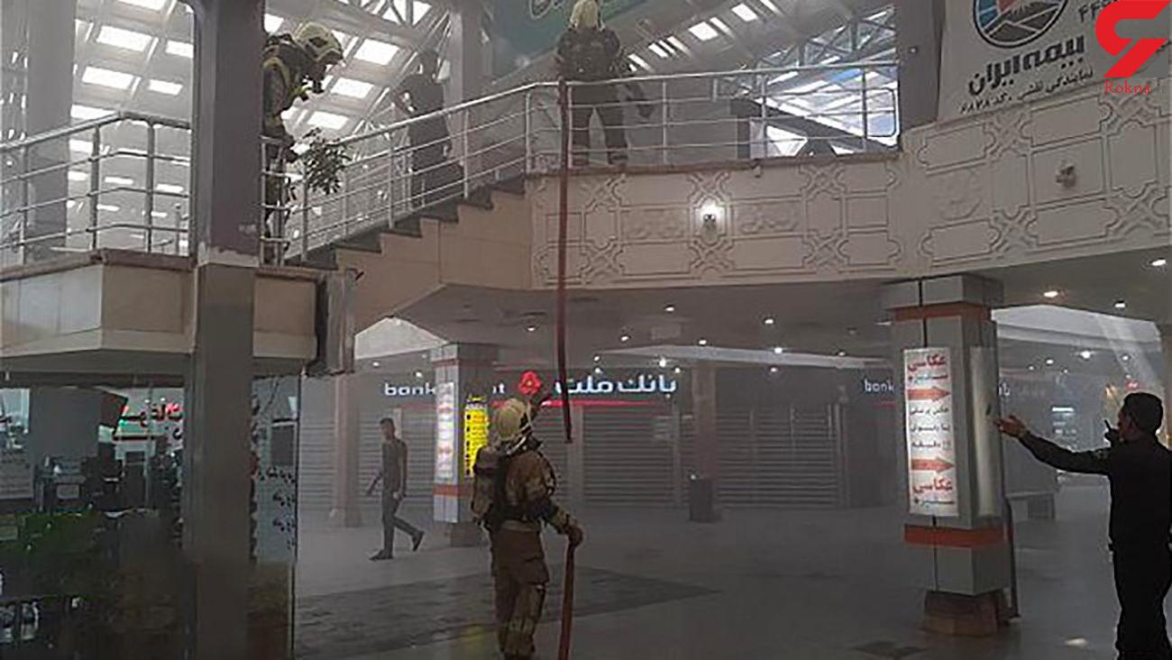 آتش سوزی مجتمع تجاری در خیابان خیام