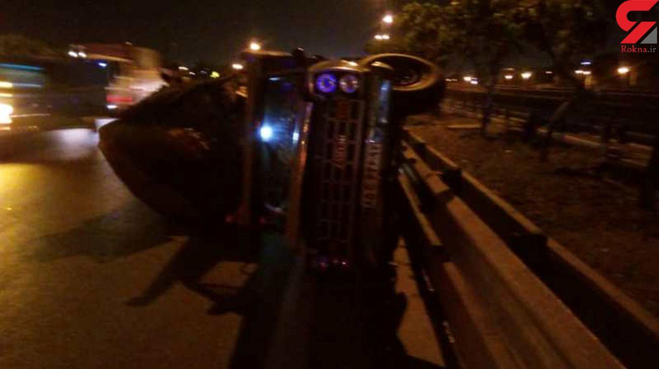 واژگونی مرگبار نیسان در مهدیشهر + عکس