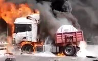 فیلم آتش گرفتن مهیب در خوزستان / باورنکردنی
