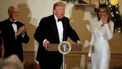پوشش متفاوت ترامپ و ملانیا در کاخ سفید+عکس