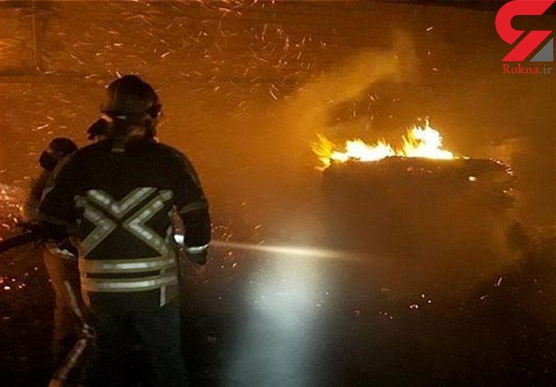 آتشسوزی گسترده در ۲ انبار بزرگ چوب + تصاویر