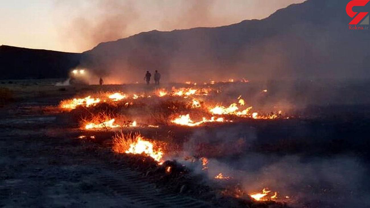 آتش سوزی سیاه کوه در  منطقه ششدار ایلام