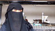 زن یمنی زیر باران آتش به سنگهای عقیق جان میبخشد + عکس