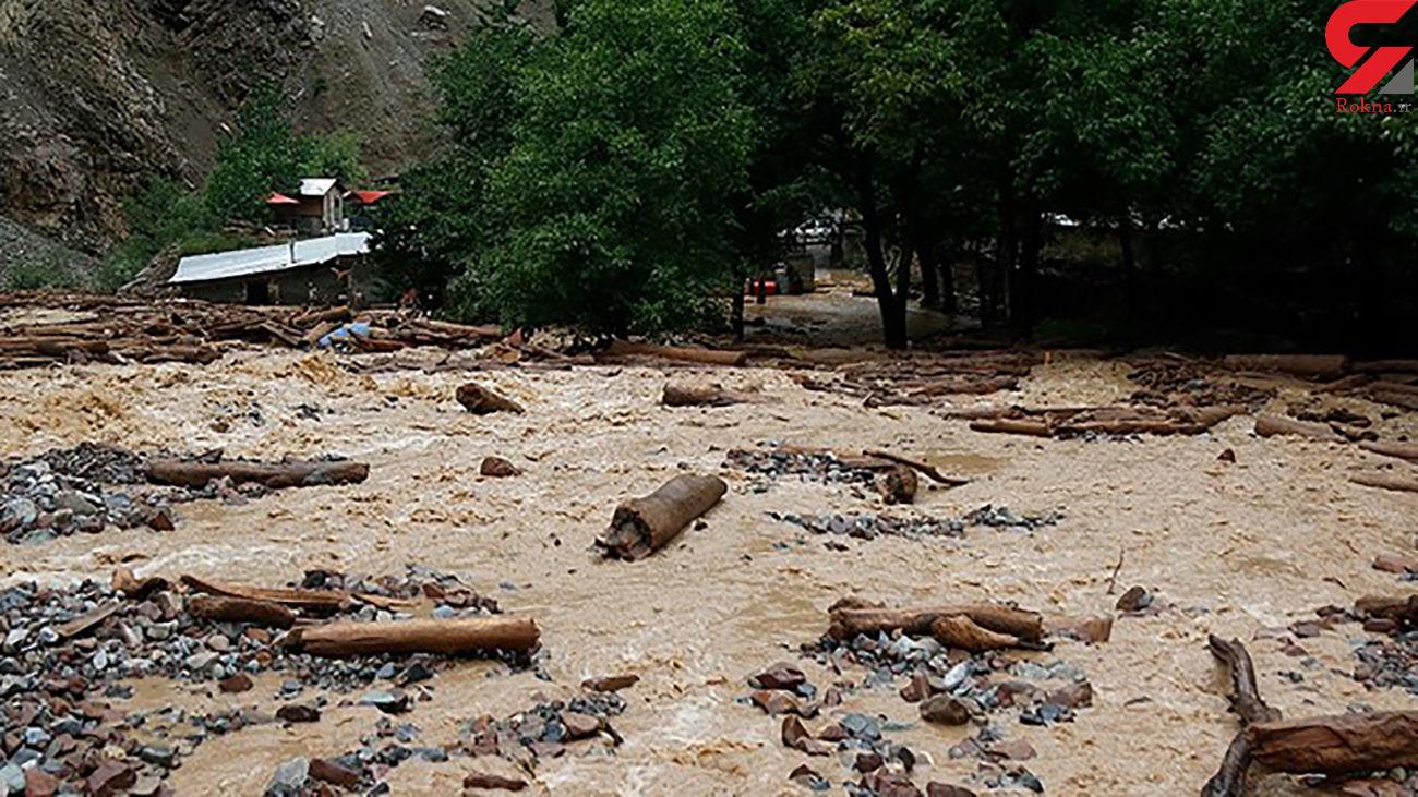 سیلاب و طوفان شدید در گلستان/ مجروحیت زن گنبدکاووسی + فیلم