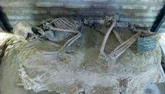 نمایش اسکلت 5500 ساله در موزه باستانشناسی نیشابور