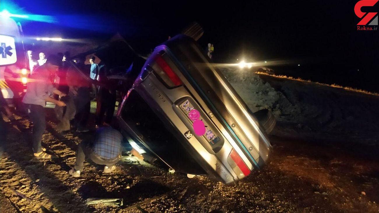 حادثه رانندگی در جاده کرج - چالوس چهار مصدوم داشت