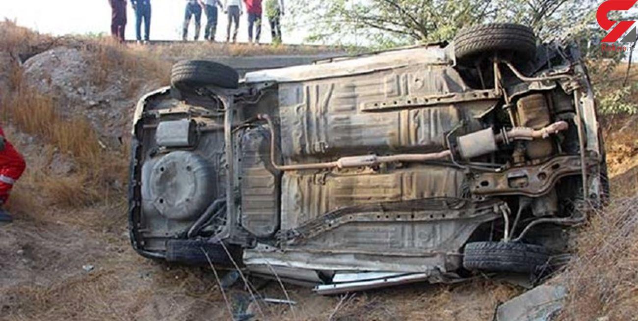 واژگونی خودرو در غار زینگان ایلام، یک کشته و 5 زخمی برجای گذاشت