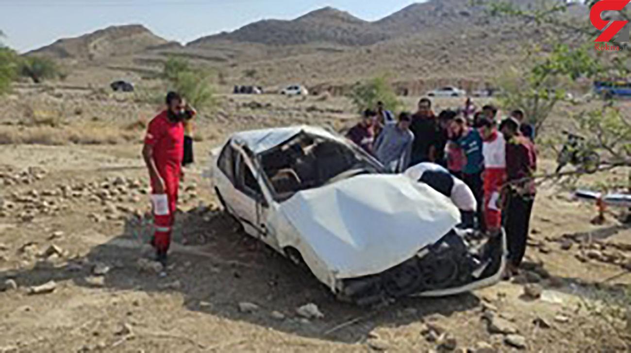 یک کشته در واژگونی پژو پارس در جاده جویم + عکس