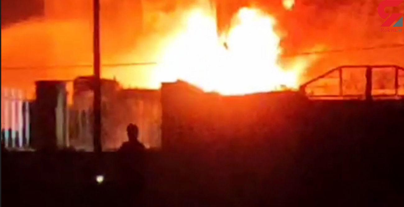 انفجار شدید کارخانه بازیافت لاستیک در شهرک صنعتی ۲ فوتی برجای گذاشت