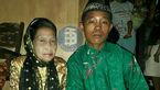 پسر ۱۶ ساله پس از تهدید به خودکشی با پیرزن ۷۱ ساله ازدواج کرد!+ عکس
