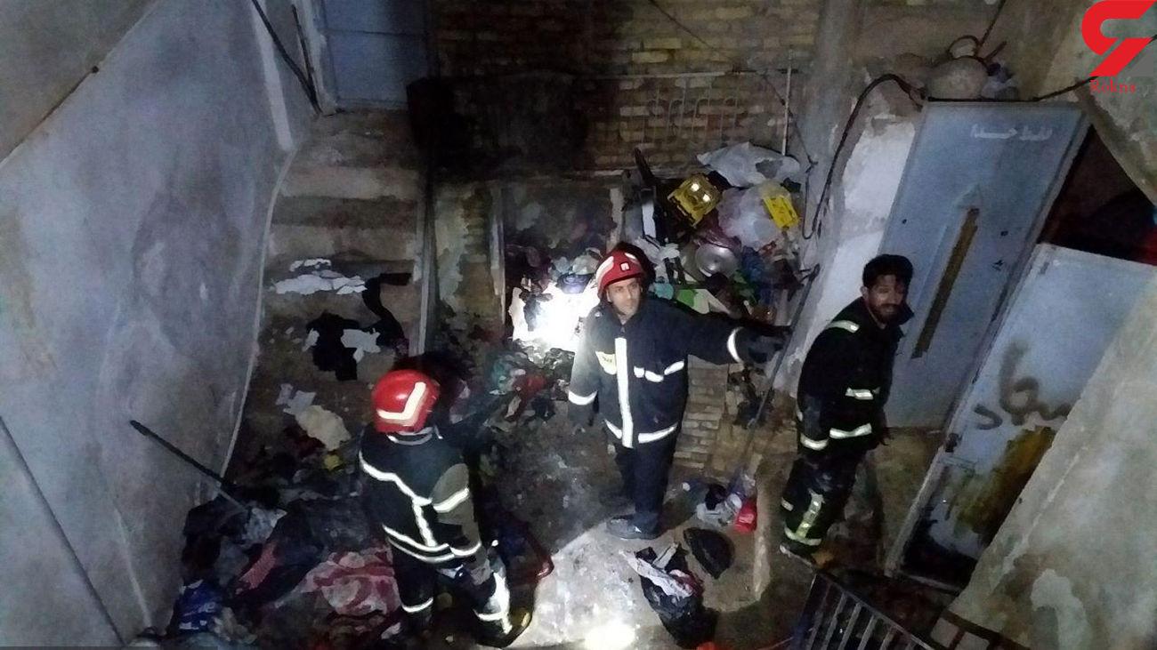 آتش سوزی هولناک در بافت قدیمی سمنان + عکس