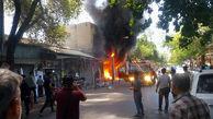 کشته شدن یک جوان قزوینی در آتش سوزی یک مغازه + تصاویر