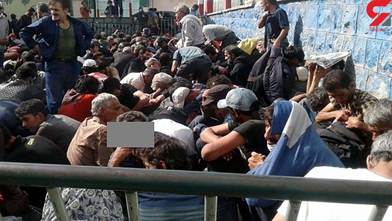 جمع آوری کارتن خوابها از بزرگراههای تهران