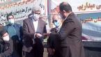 کلنگ احداث سالن ورزشی مدرسه شهید آبدر جویی روستای ذولبین به زمین زده شد