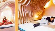 اتاق خواب این هتل شبیه به رحم مادران است+ عکس