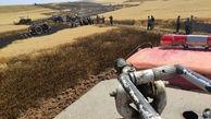 8 هکتار از مزارع گندم بوکان در آتش سوخت