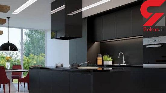 از این آشپزخانه های سیاه رنگ ایده بگیرید