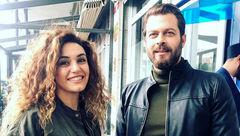 بازیگر مرد معروف ایرانی کنار خواننده زن بی حجاب + عکس