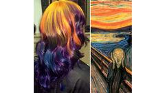 راز موفقیت این زن آرایشگر چیست؟/رنگ موهای زیبای این زن جهانی شد+تصاویر