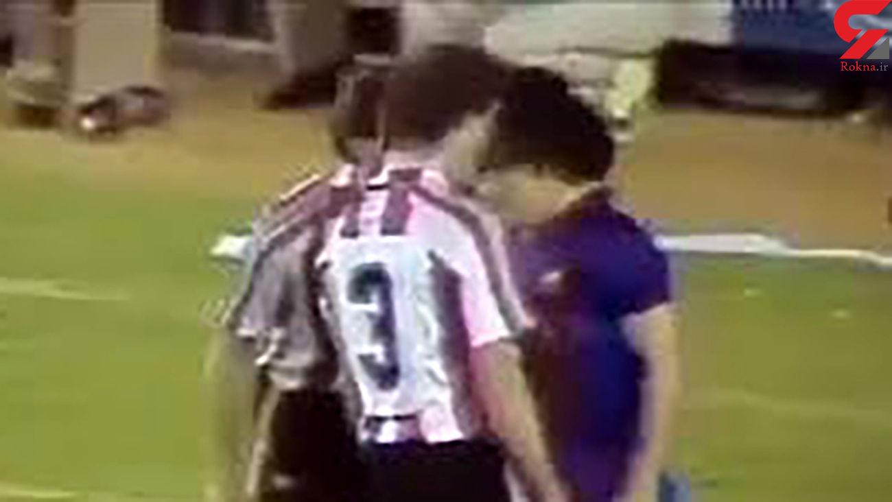 فیلم درگیری مارادونا با بازیکنان اتلتیک بیلبائو