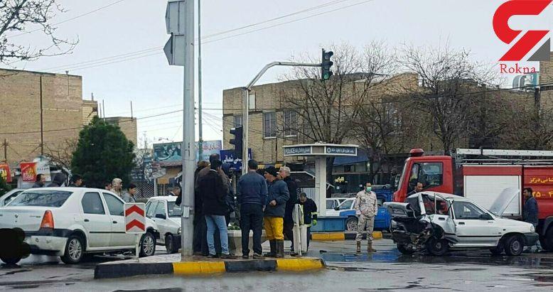 مرگ تلخ مرد درگزی در تصادف 2 خودرو + عکس