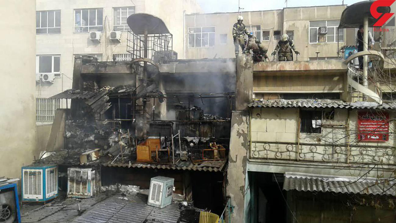 آتش سوزی در قلب تهران / باغ سپهسالار بهم ریخت + فیلم و عکس