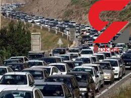 تردد وسایل نقلیه در جاده کرج - چالوس یک طرفه شد