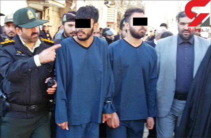 حمله وحشیانه 2 شرور شمشمیر به دست به 32 خودرو در مشهد / اعدام در انتظار این 2 جوان ! + عکس