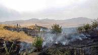 آتشسوزی وسیع در مراتع روستای انجلین خرمدره مهار شد