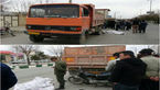 عکس جنازه یک مرد که زیر کامیون له شد! + جزییات