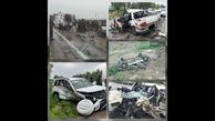 تصادف مرگبار در محور ایذه_قلعهتل سهکشته و زخمی برجای گذاشت