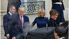 دود کردن خودروی گران قیمت ترامپ در کاخ الیزه + عکس