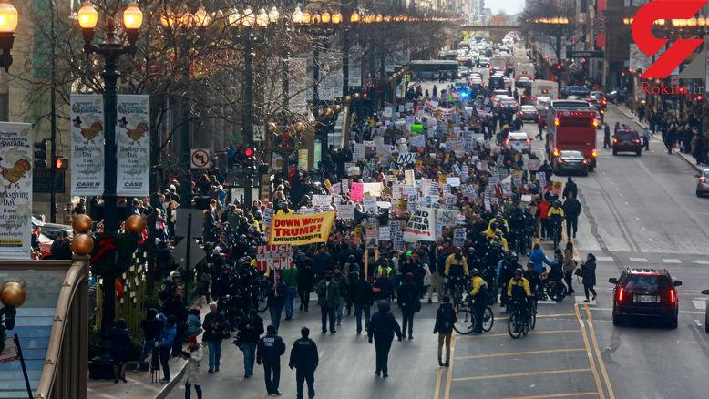 تظاهرات علیه ترامپ در آمریکا همچنان ادامه دارد