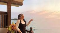 تیپ جنجالی بهاره رهنما در ساحل دریا و 17 توصیه کرونایی+عکس