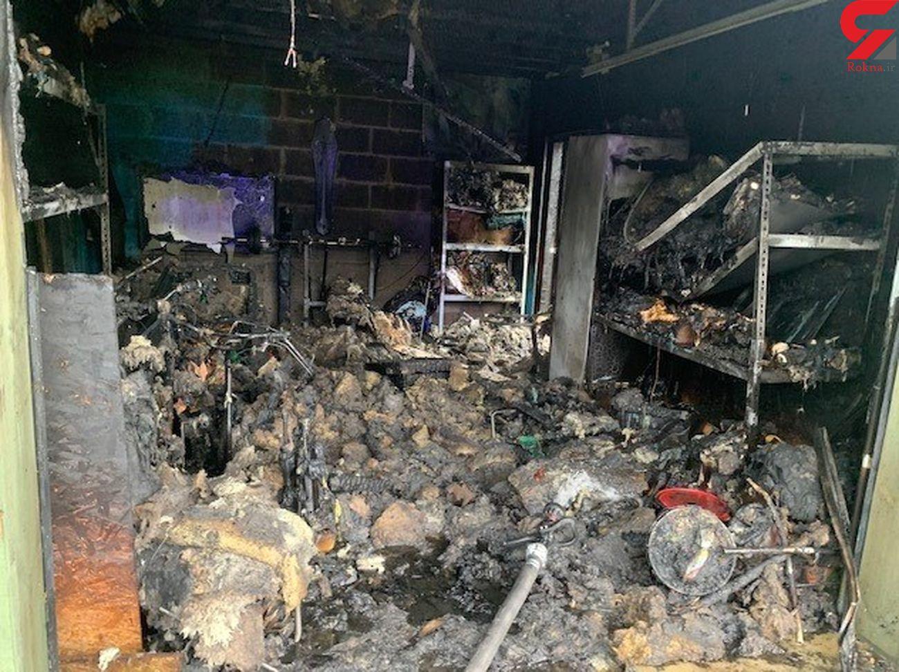 گلریزان برای بازسازی خانه بازیکن پیشین تیم ملی بسکتبال / خانه او در آتش سوخت + عکس
