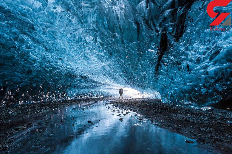 عجیب ترین غارهای یخی را ببینید + فیلم و تصاویر